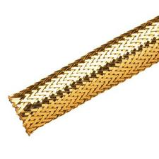 chrome expandable sleeving - gold