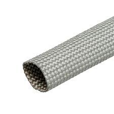 Fiberglass, Heat Resistant Wire Loom - Silver