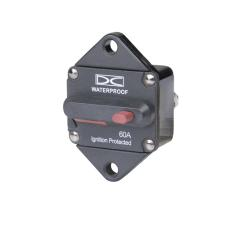 High Amp Circuit Breaker, Panel Mount - Manual Reset (Switchable)