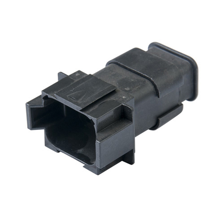 8-way receptacle with strain relief