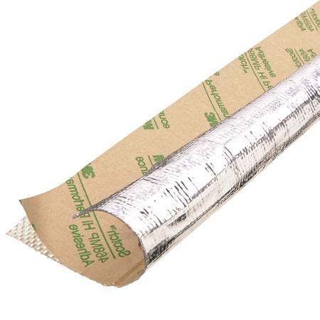 aluminized fiberglass w/ adhesive backing