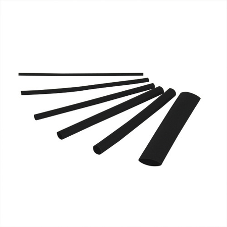 "3"" Thin Wall Black Heat Shrink Tubing"