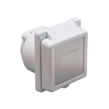 30 Amp/125V Contoured, Square Power Inlet