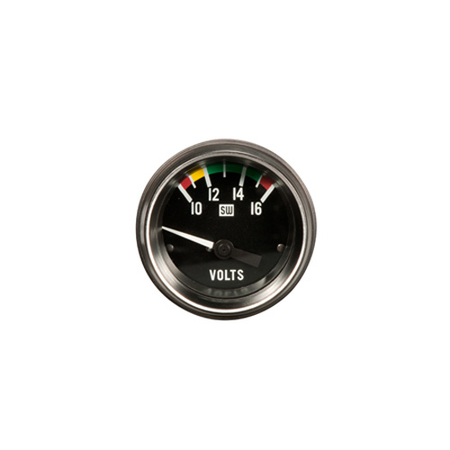 10-16 Volt Stewart Warner Heavy-Duty Series Volt Meter