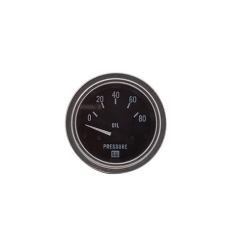 0-80psi Stewart Warner Deluxe Oil Pressure Gauge