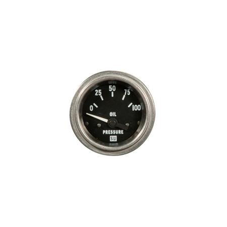 0-100psi Stewart Warner Deluxe Oil Pressure Gauge