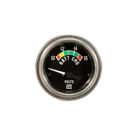 10-16 Volt Stewart Warner Deluxe Series Volt Meter
