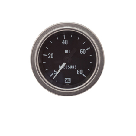 5-80psi Stewart Warner Deluxe Oil Pressure Gauge