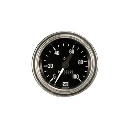 5-100psi Stewart Warner Deluxe Oil Pressure Gauge