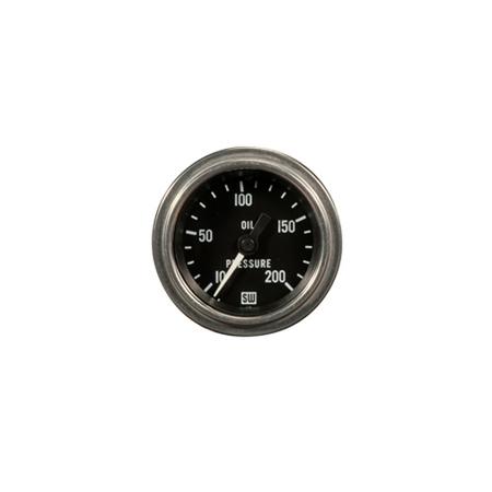 10-200psi Stewart Warner Deluxe Oil Pressure Gauge