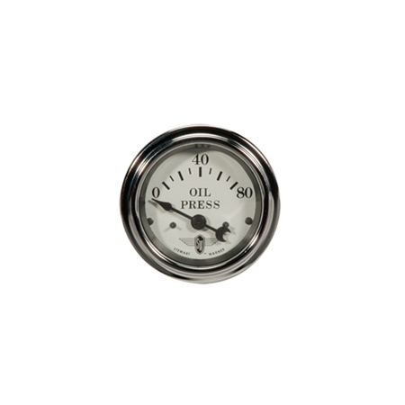 White Wings Series Oil Pressure Gauge