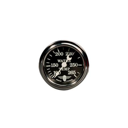 100-265°F, Black Wings Series Water Temperature Gauge
