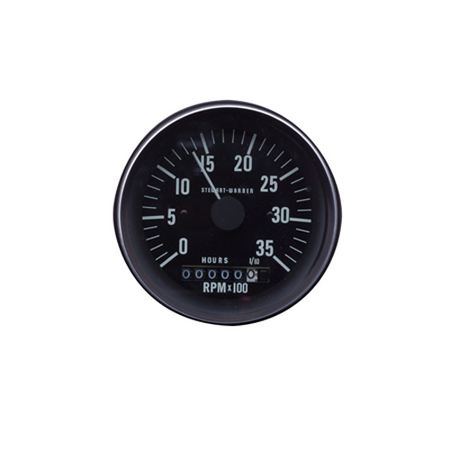 Heavy-Duty Series Analog Tachometer with Hourmeter and Selectable Ratio