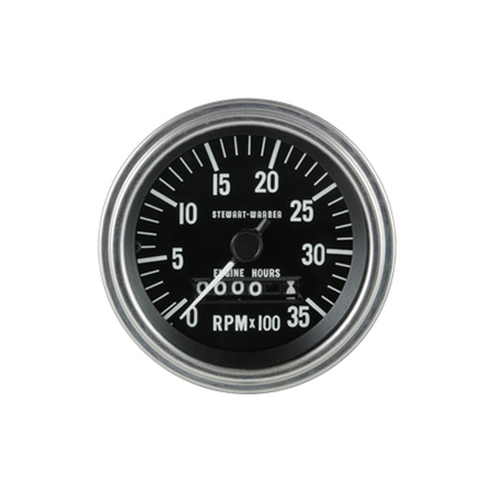 0-3,500 RPM Deluxe Series Analog Tachometer with Hourmeter