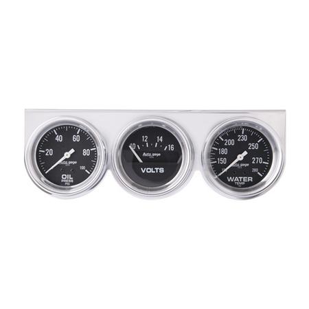 Auto Meter Auto Gage Three-Gauge Consoles