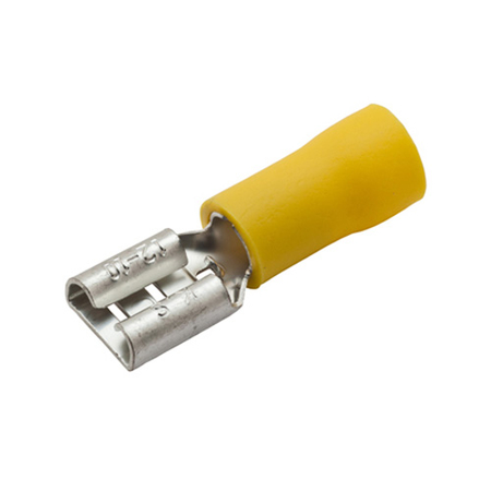 Partially-insulated, Female 12-10 Gauge Push-on Terminal