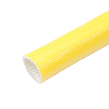 Yellow Acrylic Coated Fiberglass Sleeving