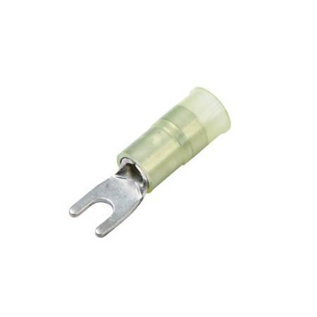 Nylon-Insulated, Brass Crimp Sleeve, Narrow Block Spade Terminals