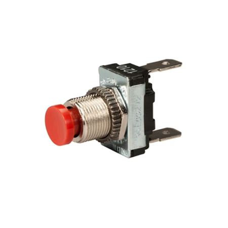 Off (On) SPST Push Button Switch - Push-on Terminal