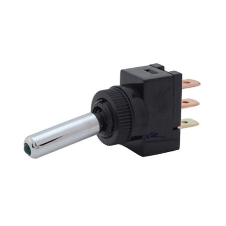Illuminated LED Tip Toggle Switch - Long Handle