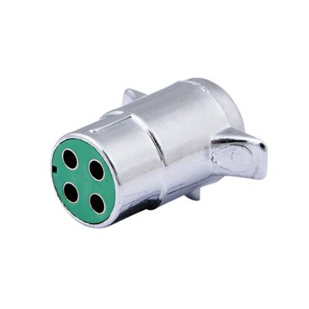 4 Pin Chrome Trailer Connector
