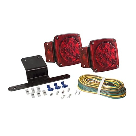 Square Tail Light Kit - Traditional