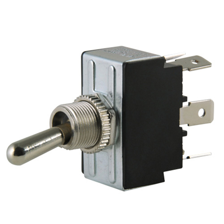 Flat Terminal Heavy-duty O-Ring Toggle Switch - DPDT
