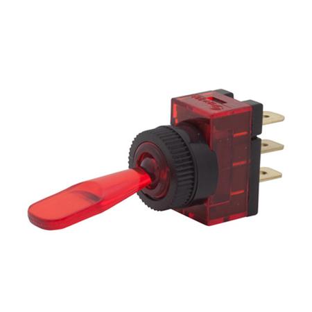 Illuminated Wedge Toggle Switch - SPST