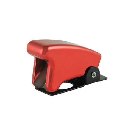 Chrome Red Toggle Switch Guard