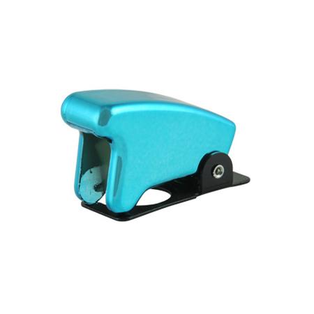 Chrome Blue Toggle Switch Guard