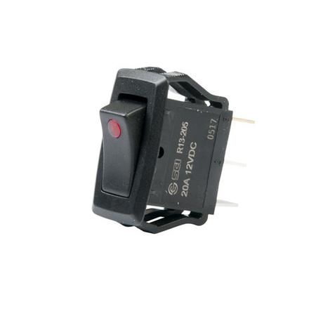 LED Appliance Rocker Switch - Red