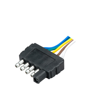5-Way Male Flat Connector