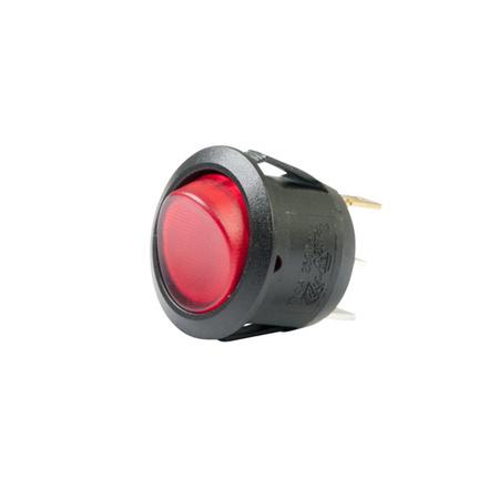Illuminated AC Round Rocker Switch