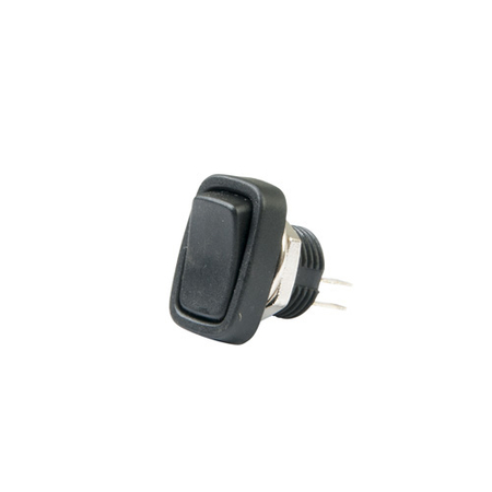 Rectangular, Round Hole Rocker Switch - SPST