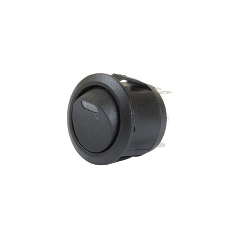 LED Illuminated AC Round Rocker Switch