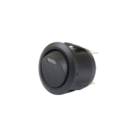 LED Illuminated AC Round Rocker Switch