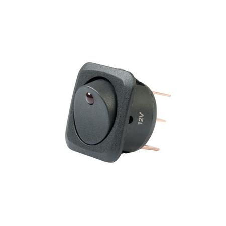 LED Illuminated, Snap-in, Round Hole Rocker Switch
