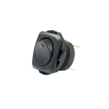 LED Illuminated, Round Hole Rocker Switch
