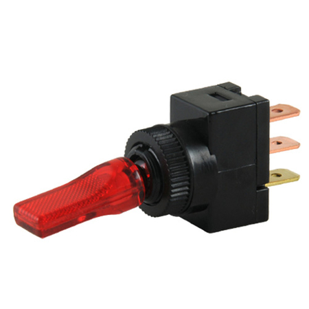 LED Duckbill Toggle Switch - Red