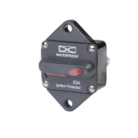 High Amp Circuit Breaker, Panel Mount - Manual Reset (Switchable)
