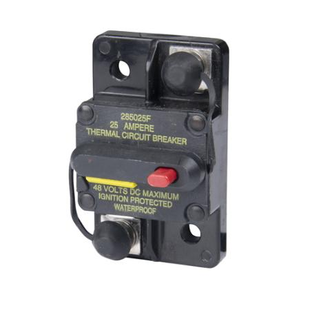 Hi-Amp Surface Mount Circuit Breakers - Manual Reset (Switchable)
