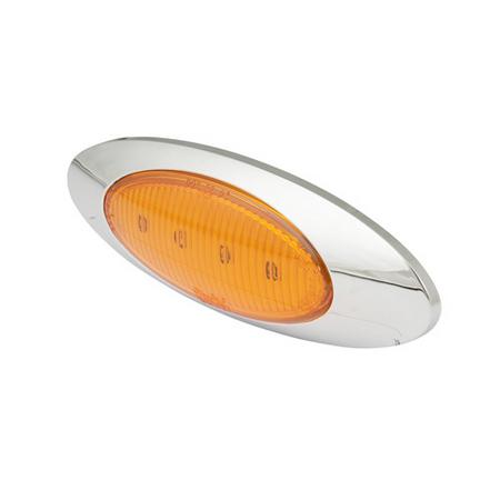 LED Marker Light - Oblong with Chrome Trim