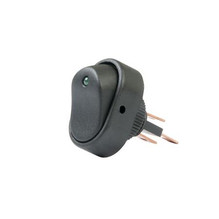 LED Dot Rocker Switch - Green