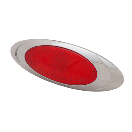 Chrome Clearance Marker Light