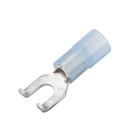 Clear Nylon-Insulated, Flanged Spade Terminals
