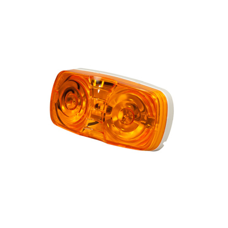 Scalloped Clearance Marker Lights - 2-Bulb