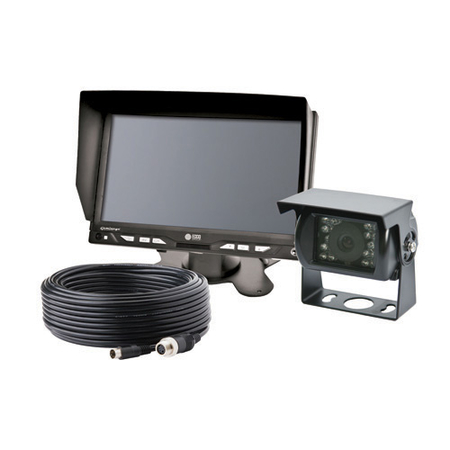 7 Inch LCD Color Camera Backup System Kit