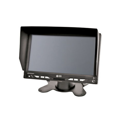 7 Inch LCD Color Camera Backup System Kit
