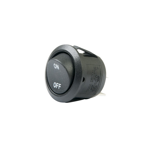 Round Rocker Switch with Legends - SPST