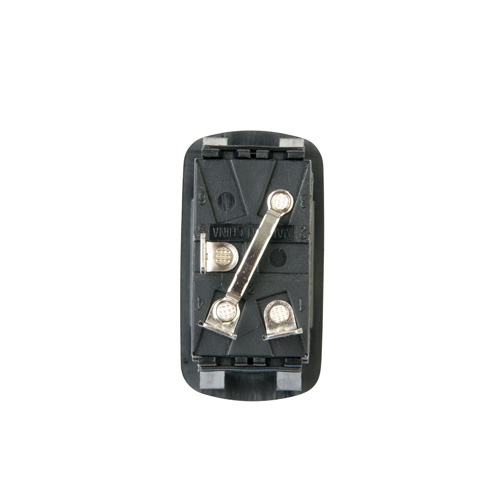 LED Illuminated Single Pole Euro-style Rocker Switch - Back View